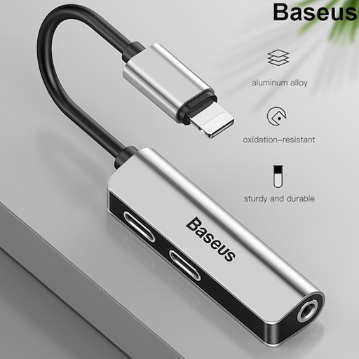 baseus audio converter l 52 مبدل لایتنینگ به جک 3.5 mm بیسییوس