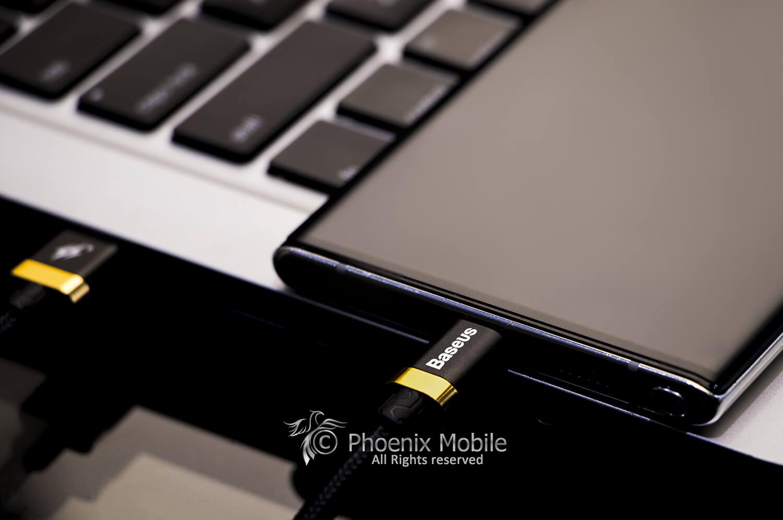 کابل شارژ سریع type-c بیسیوس مدل baseus purple goldred flash charge cable
