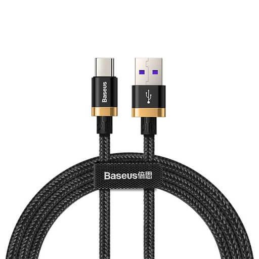 کابل شارژ سریع type-c بیسیوس مدل purple gold red flash charge cable بسیوس