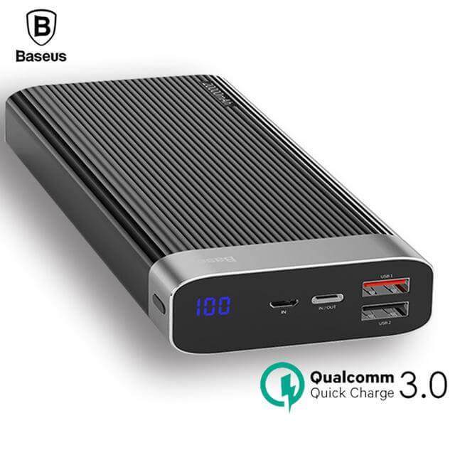 baseus parallel line portable version powerbank