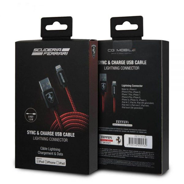 cg mobile ferrari charge usb cable کابل شارژ لایتنینگ cg mobile طرح فراری