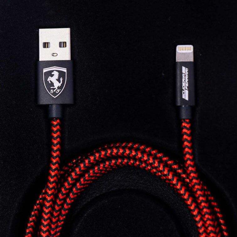 cg mobile ferrari charge usb cable کابل شارژ لایتنینگ cg mobile طرح فراری