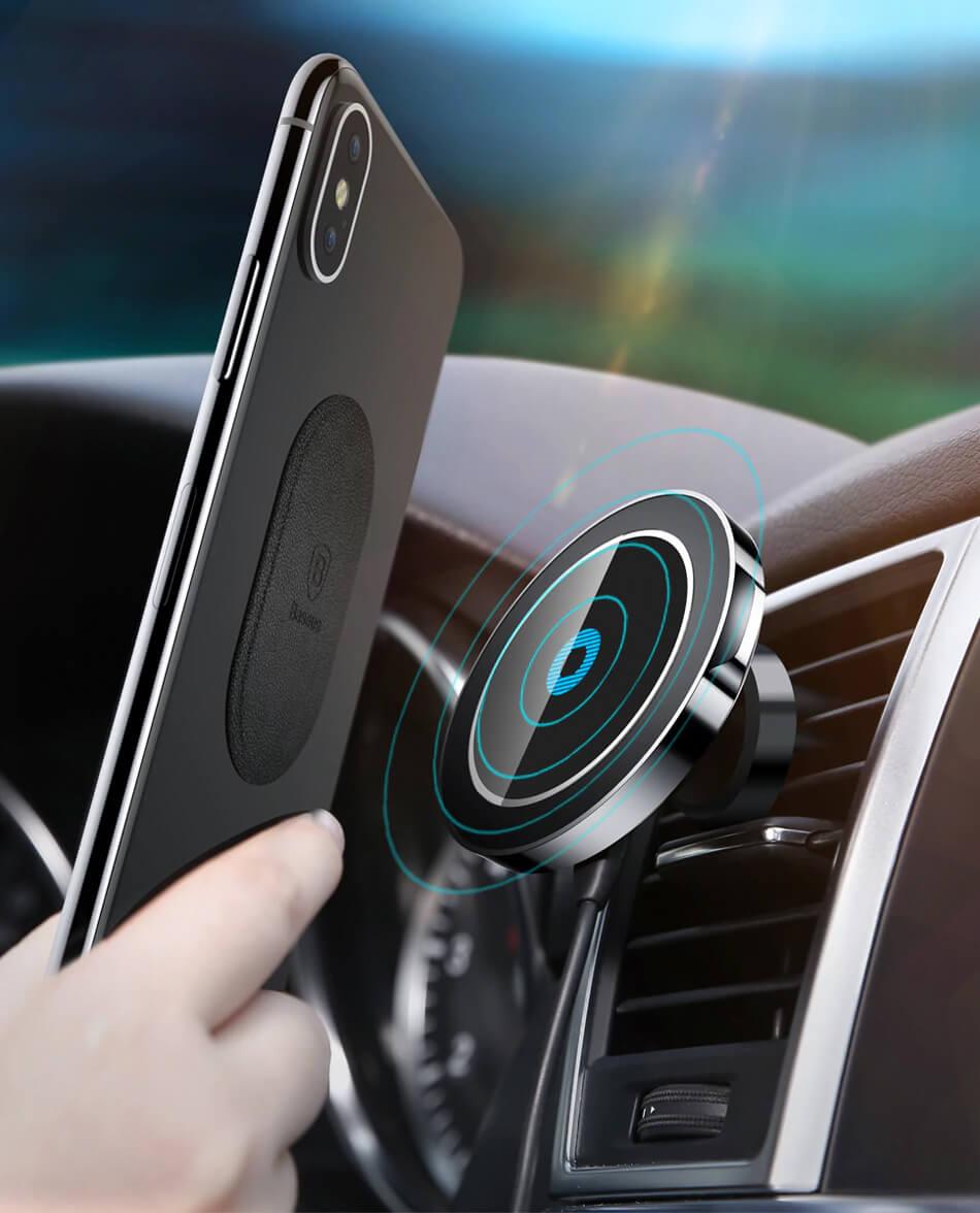baseus bigears car mount wireless charger