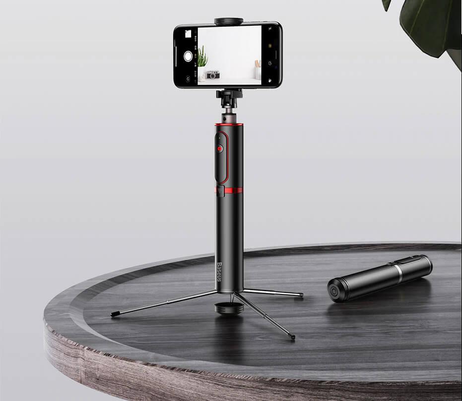 baseus bluetooth fully folding selfie stick