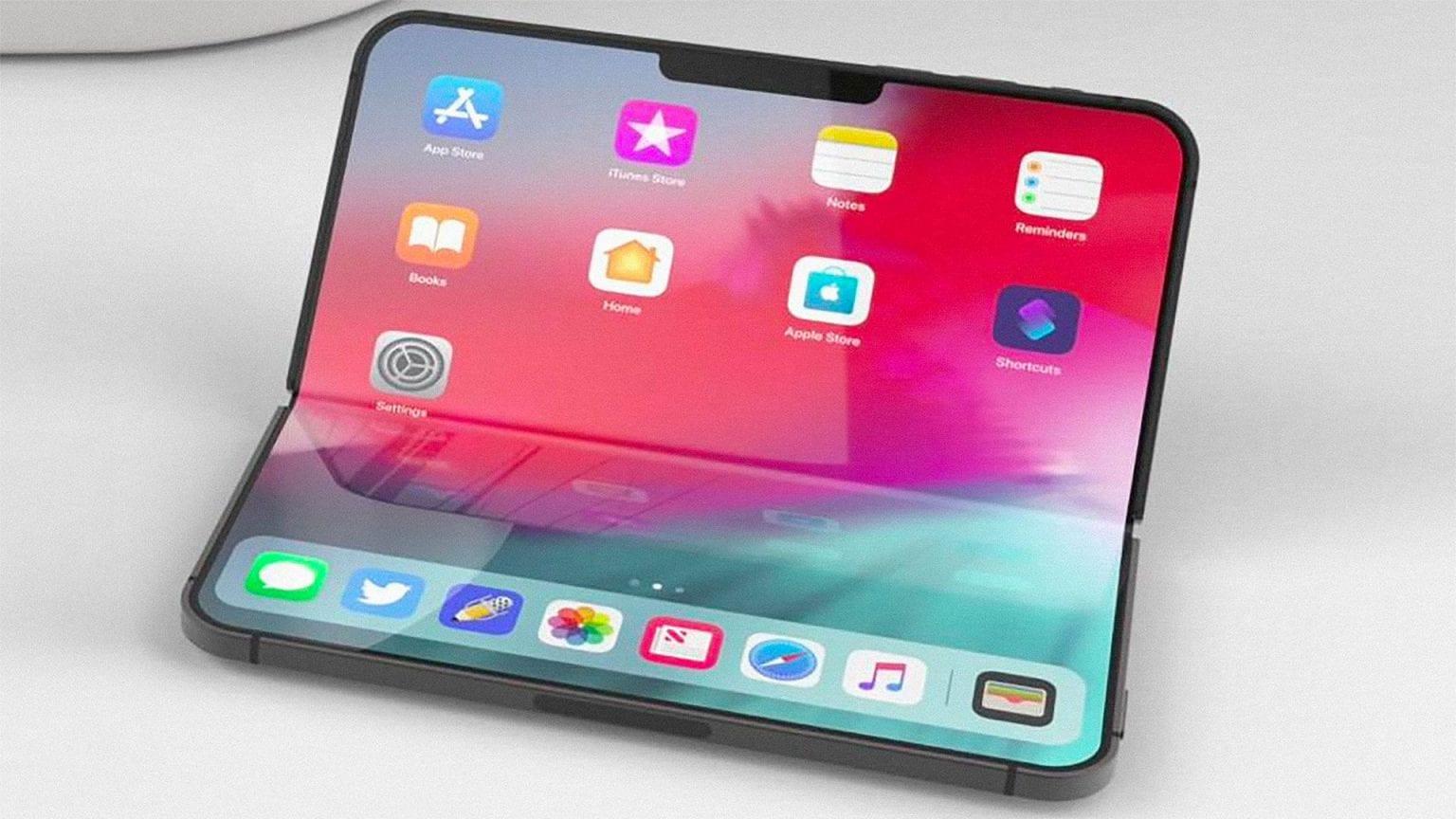 اپل روی صفحه نمایش های تاشو و تاچ آیدی زیر آن کار میکند
