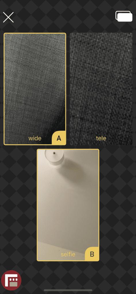 انتخاب دوربینها در DoubleTake