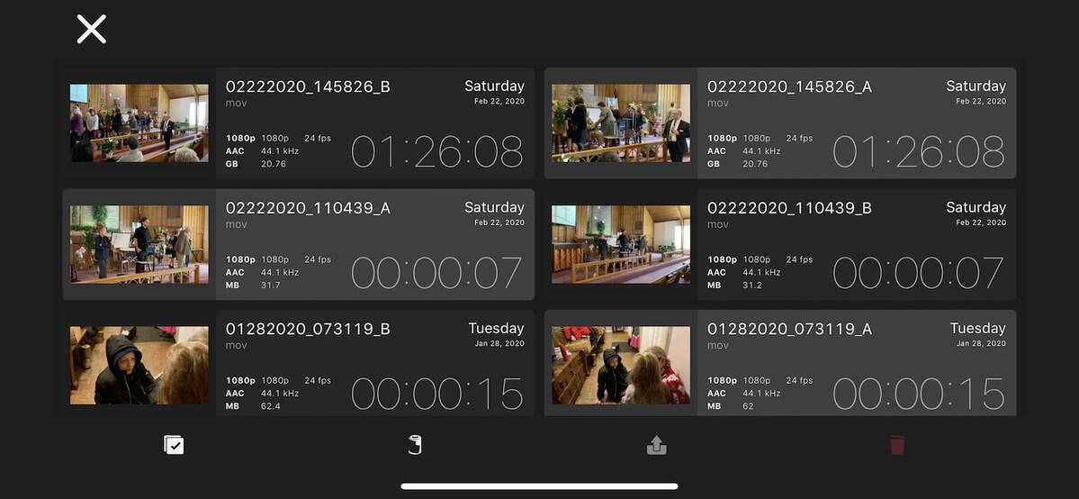 تنظیمات ویدیو و تصویر DoubleTake