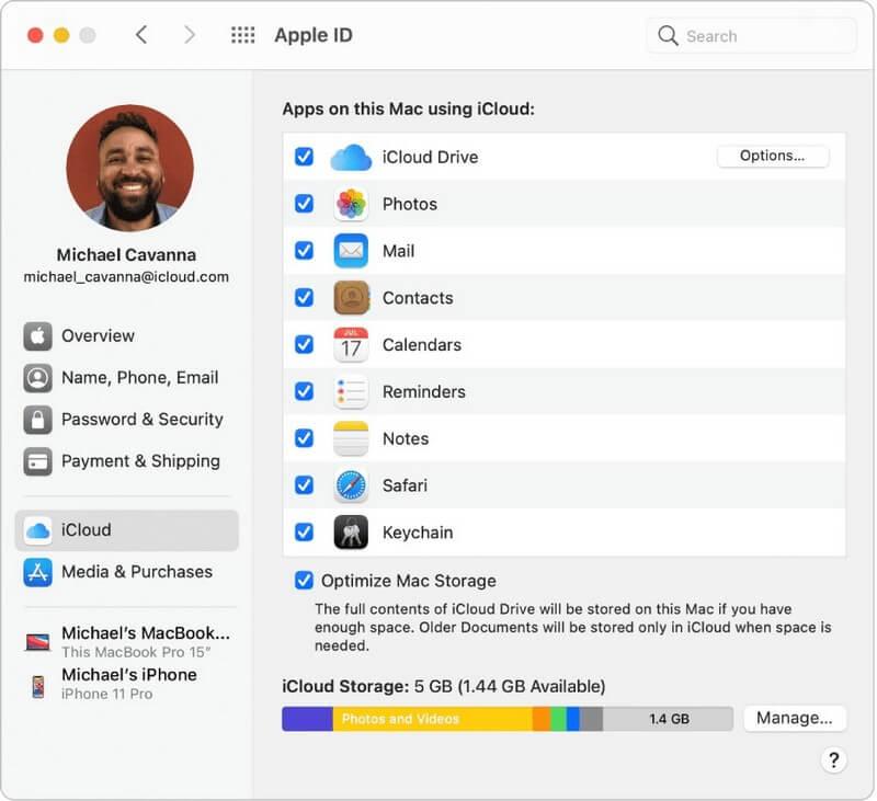نحوه تنظیم iCloud content برای مک