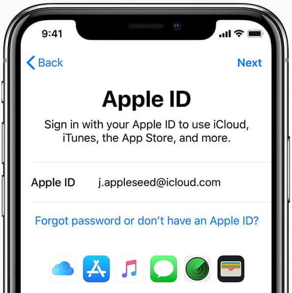 استفاده از Apple ID در iCloud content